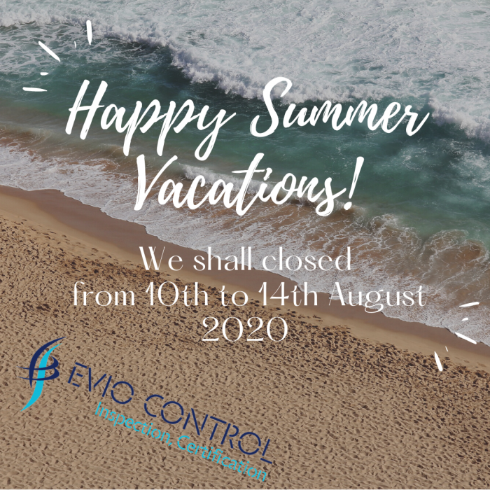 Happy Summer Vacations! We shall remain closed from 10th to 14th August 2020. (1)